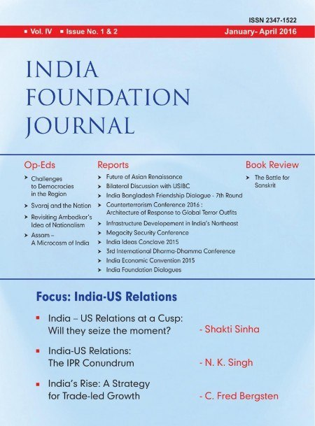 India Foundation Journal January April 2016