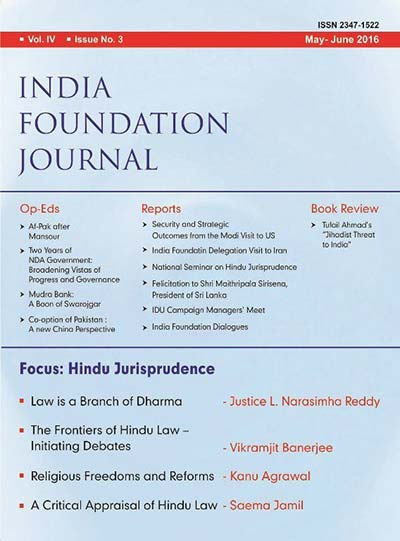 India Foundation Journal May June 2016
