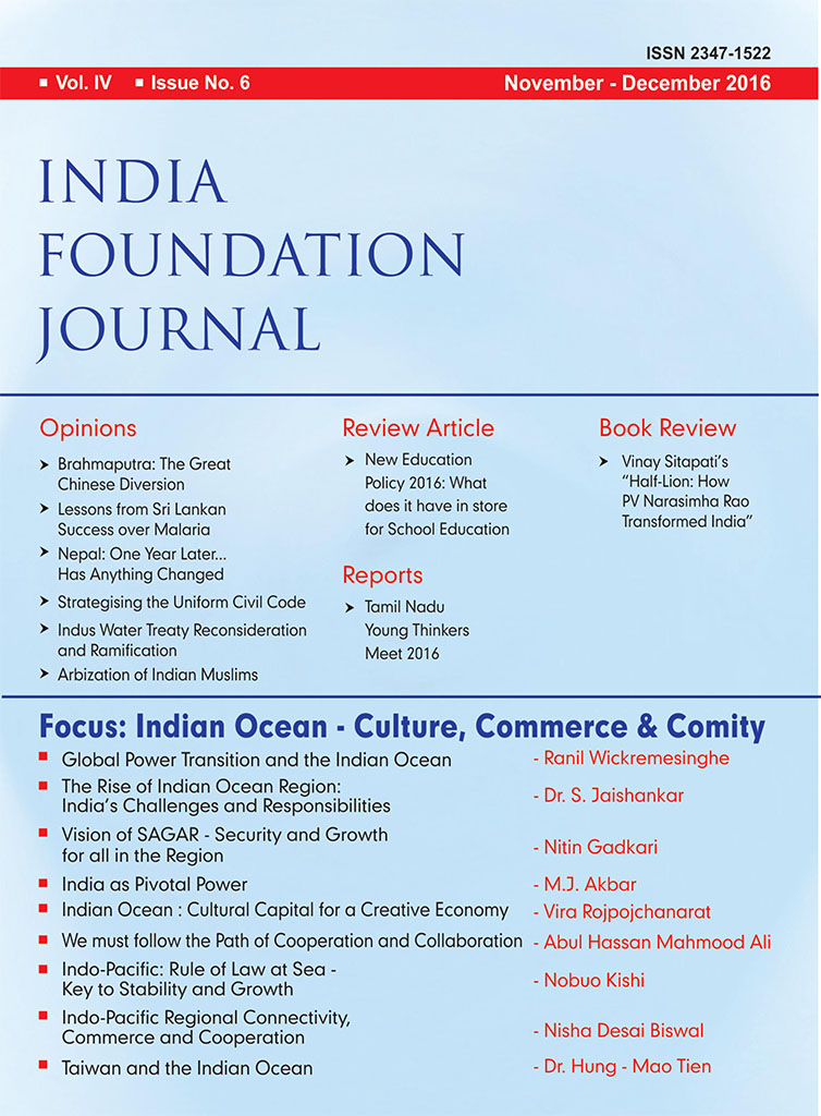 India Foundation Journal Issue No. 6 (Vol. IV)