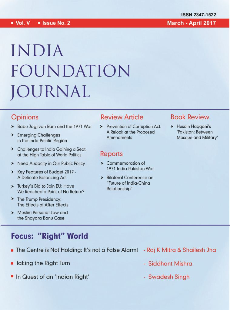 India Foundation Journal March April 2017