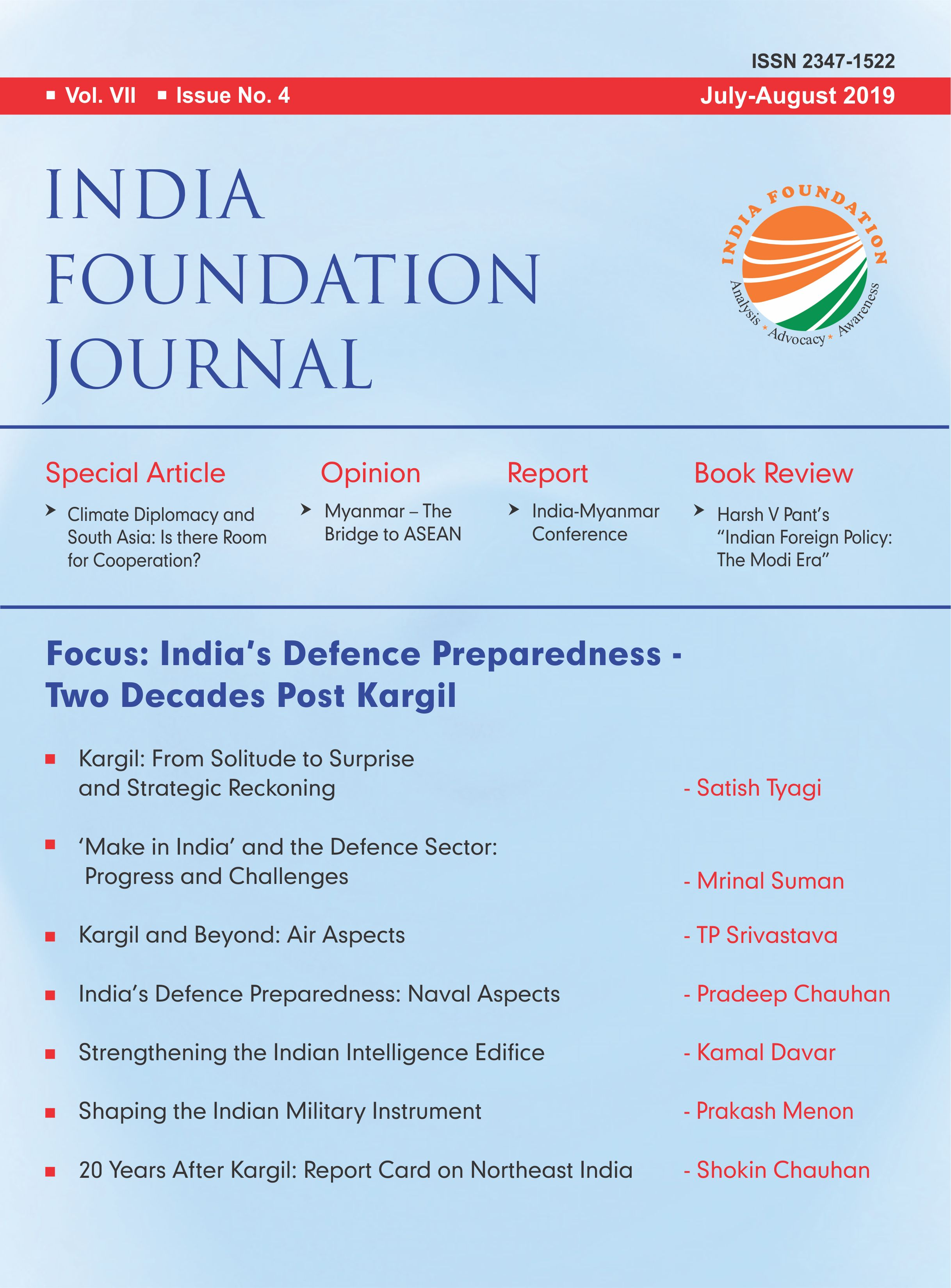 India Foundation Journal July August 2019