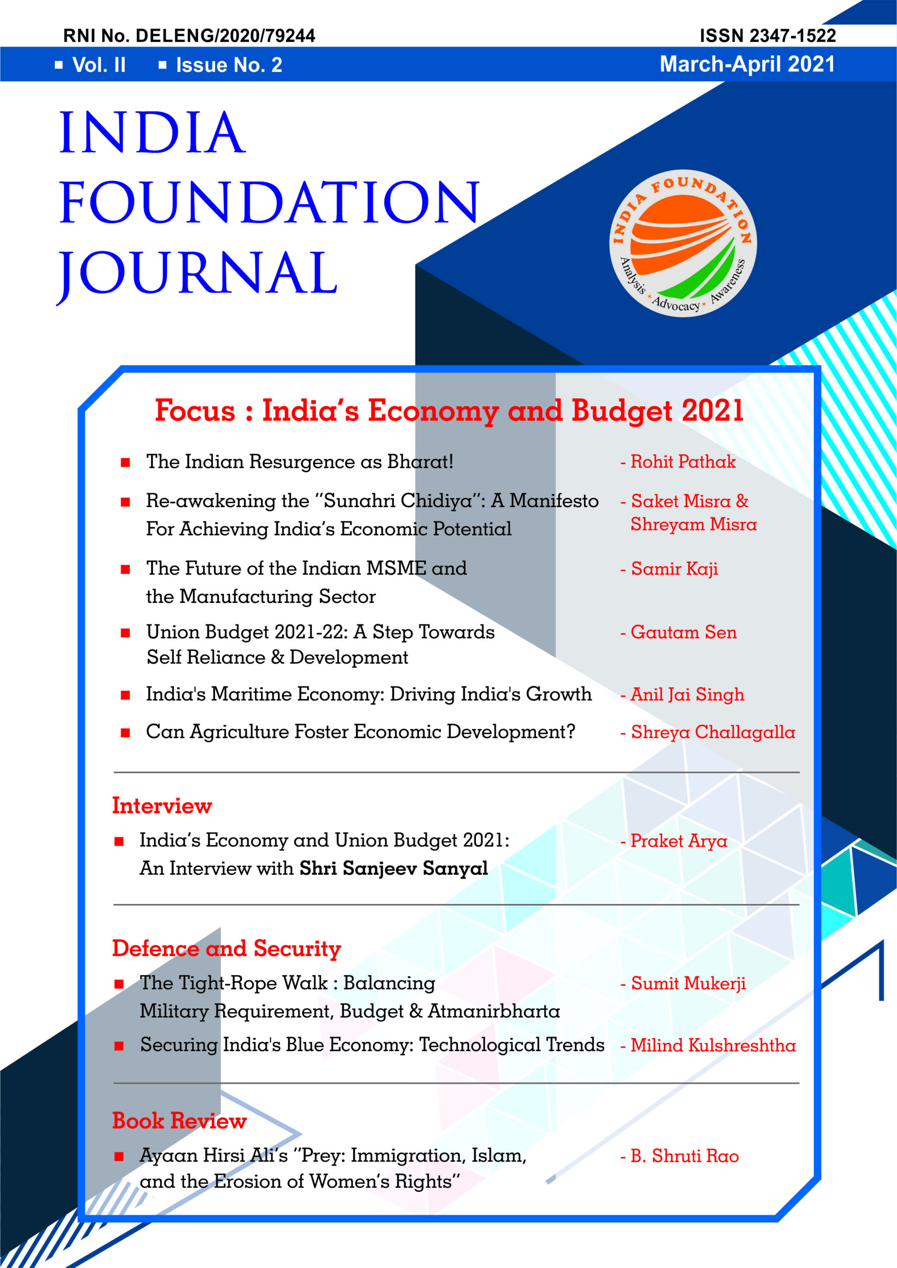 India Foundation Journal March-April 2021